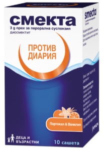 Smecta 10 sachets package